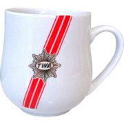 TWA 80's Demitasse Coffee Cup, Ambassador Class Porcelain