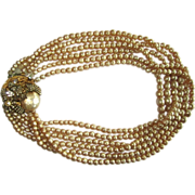 Miriam Haskell Pearl Necklace, Baroque Faux Pearls