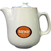 Hall China Restaurant Ware Coffee Pot Sanka