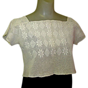 Victorian Lace Blouse, Hand Crochet, Downton Abbey