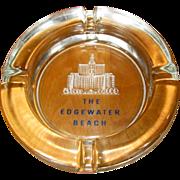 Edgewater Beach Hotel Vintage Ash Tray, Glass