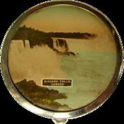 Niagara Falls Compact, Vintage Purse Powder