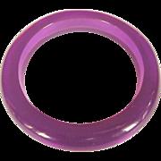 Purple Lucite Bracelet, Translucent Lucite, Vintage 60's