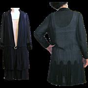 Flapper Dress & Jacket, Silk Chiffon 1920's