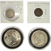 Morgan and Peace Dollar, Indian Head Penny, Liberty Nickel