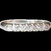 Platinum & Diamond Ring, Wedding Band, Art Deco