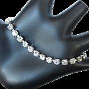 Coro Rhinestone Bracelet, Art Deco Vintage Link,