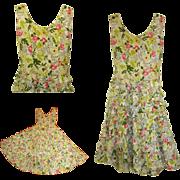 Vintage Party Dress, Rhinestones, Ruffles & Jitterbug