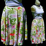 Vintage Circle Skirt, Rhinestones - Swing Dance 1950's