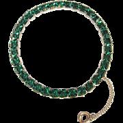 Sterling Rhinestone Bracelet, Art Deco