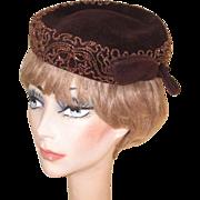 Beaded Hat, Vintage 40's Marshall Field's