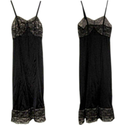 Lace Bodice Slip, Vintage Black, 1950's
