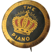 Vintage Piano Button, Crown, Chicago