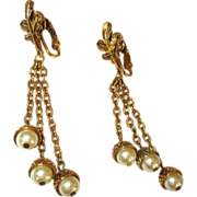 Vintage Earrings, Acorn & Oak Leaf
