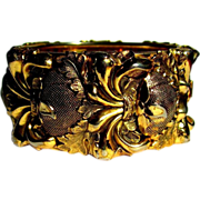 Whiting & Davis Bracelet, Wide Hinged