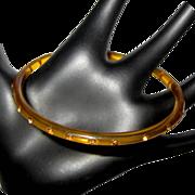 1920's Celluloid Sparkle Bracelet, Apple Juice