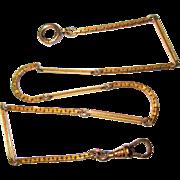 Antique Watch Chain, Gold Filled Bigney
