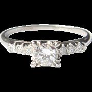 Platinum & Diamond Engagement Ring, 1930's