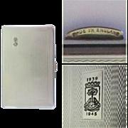 Deco Cigarette Case, Galashiels Crest, WWII, 1939 - 1945