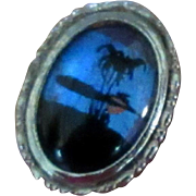 Butterfly Wing Ring, Vintage Iridescent