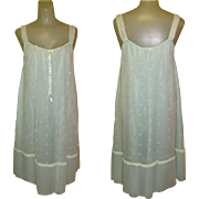 1950's Night Gown, Vintage Lingerie