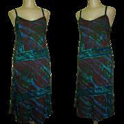 Batik Sundress, Vintage Bias Cut Tie Back