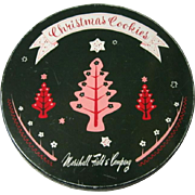 Marshall Field's Cookie Tin, Vintage Christmas