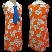 Vintage Sailor Dress, 1960's Mod