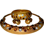 Swarovski Crystal Necklace, Bracelet & Earrings, Jackie Collins 1980's