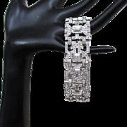 Art Deco Rhinestone Bracelet, Engel Brothers, 1930's
