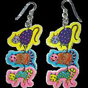 Cat Earrings, Boom Boom Wiz, 1990