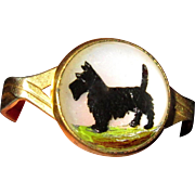 Essex Crystal Dog Ring, Intaglio Scottie
