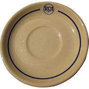 SOLD Vintage RCA Restaurant China, Saucer, Scammell