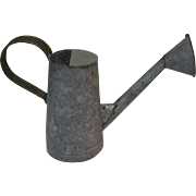 Vintage Watering Can,  Galvanized