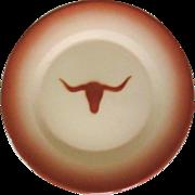 Longhorn Steer Platter, Vintage Western Enamelware