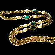 SALE Vintage Necklace, Crystal Station, 1980's