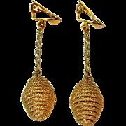 Vintage Drop Earrings, 1960's