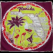 Vintage Florida Handkerchief, State Memorabilia