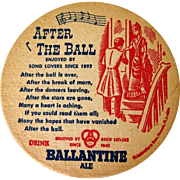1950's Beer Coasters, Ballentine Ale, Six