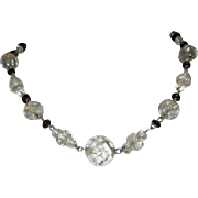 Deco Crystal Necklace, Faceted Beads, 1920's