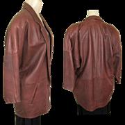 Vintage East West Leather Jacket, San Francisco 1980's