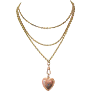Victorian Watch Chain / Necklace, Gold Filled