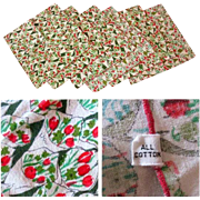 SALE Vintage Vera Napkins, Tulips, Set of 6
