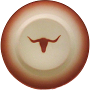 SALE Longhorn Steer Platter, Vintage Western Enamelware