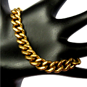 14K Curb Link Bracelet, Solid Gold, 48 Grams