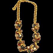 Magnificent Vintage Multi Colored Necklace