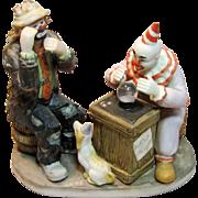 Emmett Kelly Jr. with a Clown Fortune Teller Figurine
