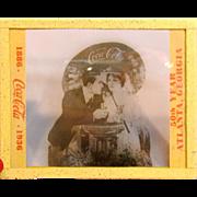 Vintage Coca Cola Advertising Negative Glass Slide 1886-1936