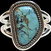 Outstanding Vintage Navajo Cuff Bracelet in Sterling Silver