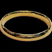 Gorgeous Polished Hinged Bangle Bracelet in 14K Yellow Gold with Sliding Bar